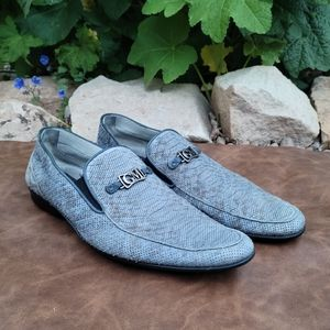Good Man Grey-Blue Loafers Size 40